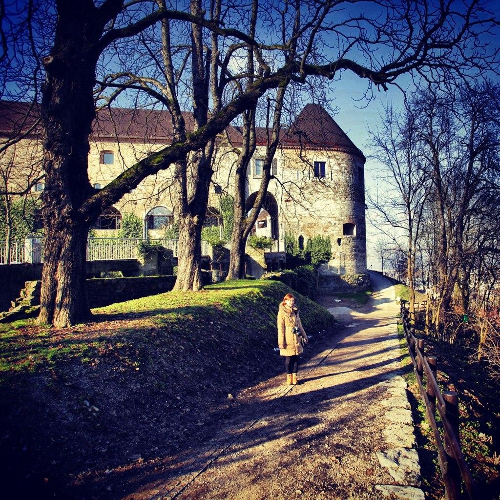 Вид на люблянскую крепость
